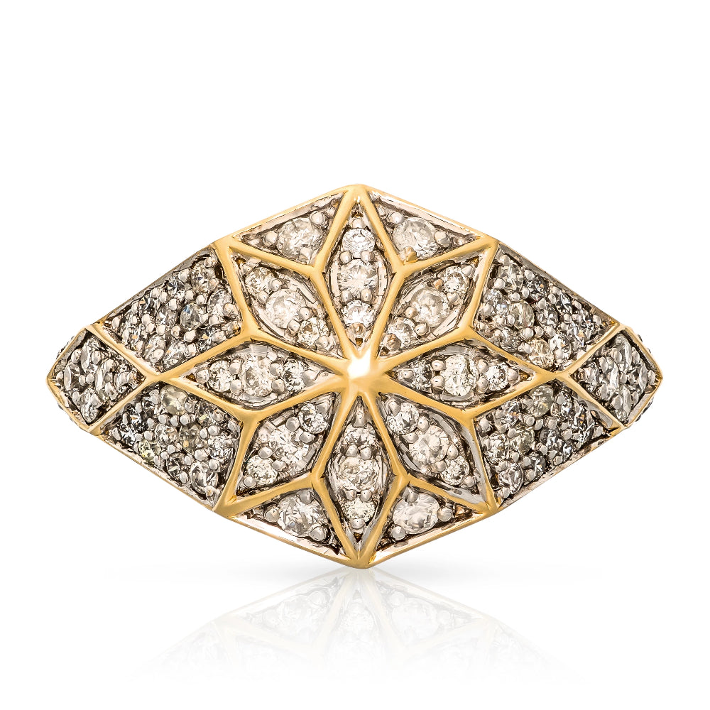 Zoe & Morgan Venus Star 9k Gold Diamond Ring