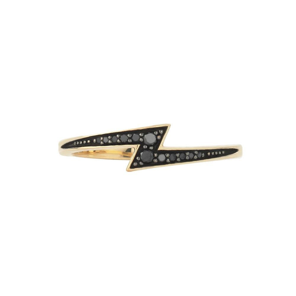 Zoe and Morgan Zap Black Diamond and 9k Gold Ring