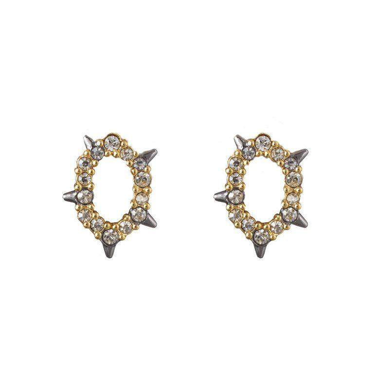 ALEXIS BITTAR CRYSTAL STUD EARRINGS