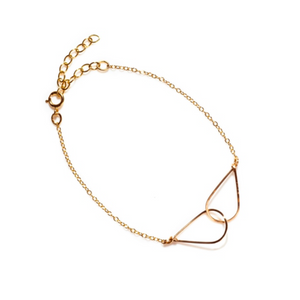 By Boe Interlinling Teardrop Bracelet | 14K Gold Plate | Fine Bracelet