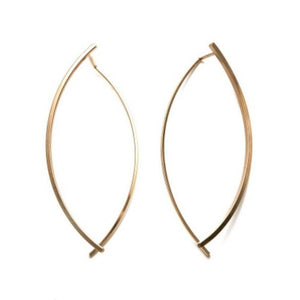 By Boe Mirrored Leaf Earrings | 14K Gold Plate | Bridemaids Gifts Ideas
