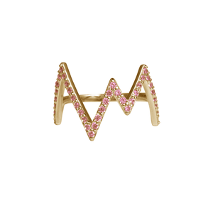 ROSIE FORTESCUE GOLD HEARTBEAT RING