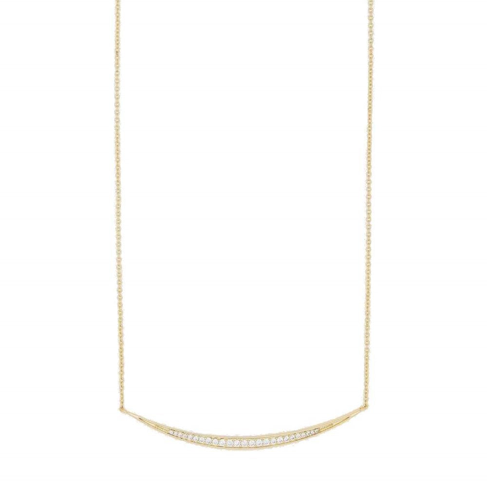 Gorjana Crescent Shimmer Necklace | 18K Gold Plate
