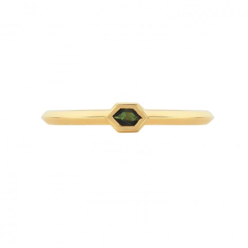 ZOE AND MORGAN KUN RING TOURMALINE
