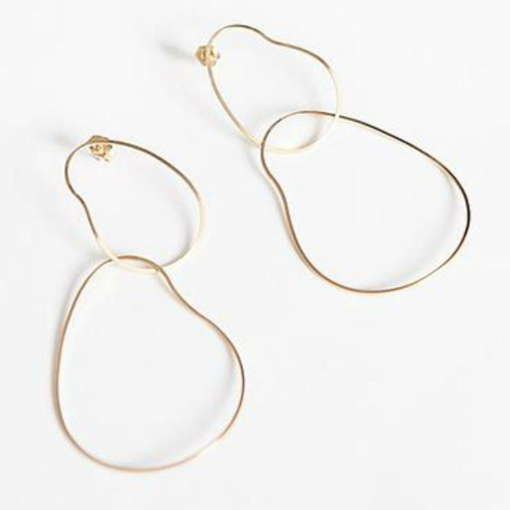 By Boe Double Gentle Earrings | 14K Gold Plate