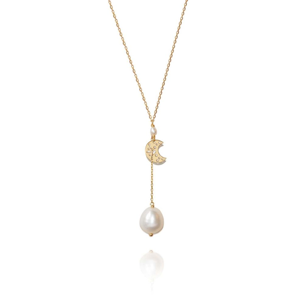 PERLE DE LUNE PEARL MOON NECKLACE