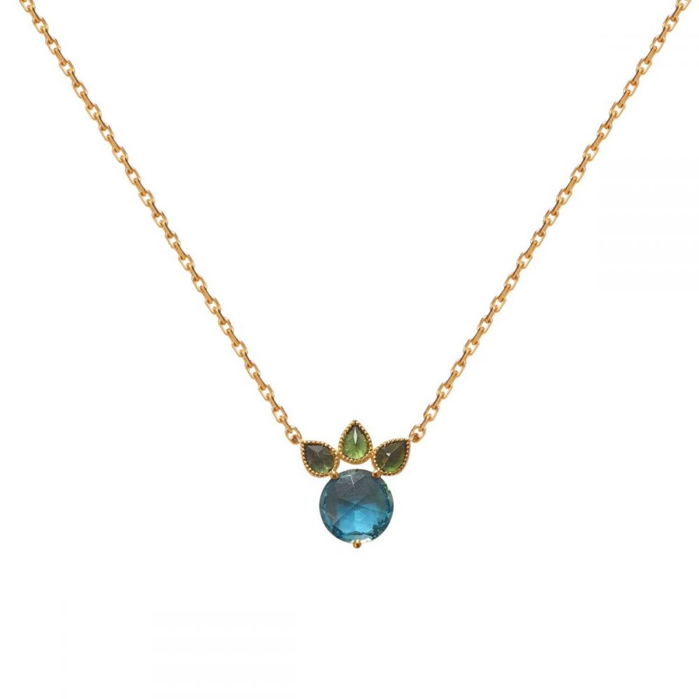 PERLE DE LUNE BLUE TOPAZ PRINCESS NECKLACE