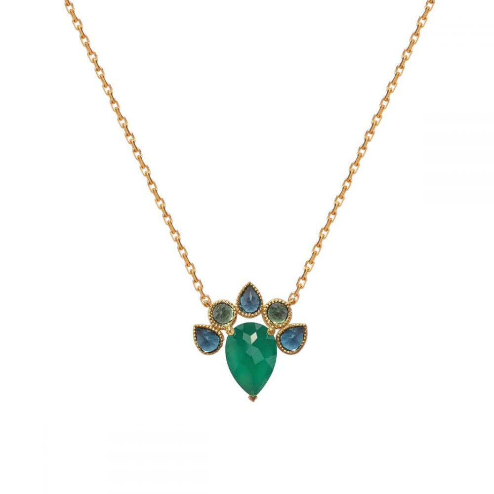 PERLE DE LUNE GREEN QUEEN NECKLACE