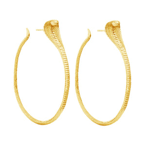 Zoe and Morgan Gold Snake Hoop Earrings