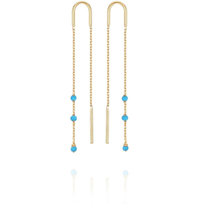 PERLE DE LUNE PETITS GEMS LONG EARRINGS
