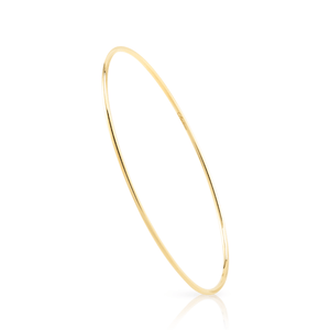 Loulerie Oval Gold Bangle | 14K Gold