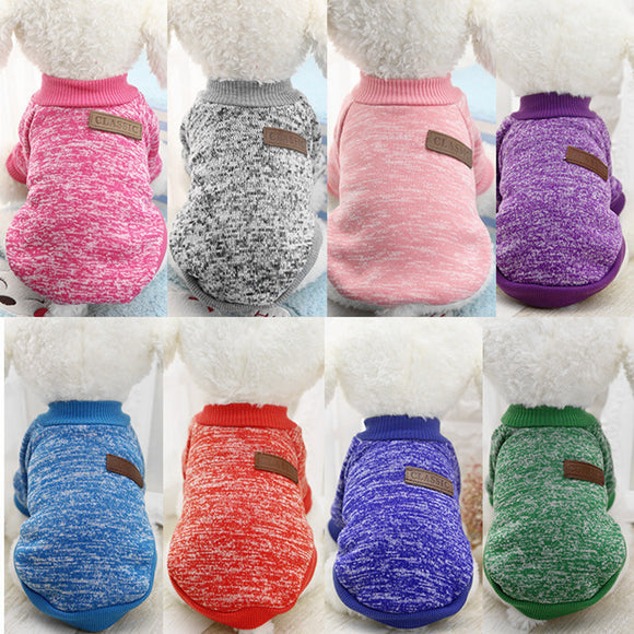 Dog Clothes For Small Dogs Soft Pet Dog Sweater Clothing For Dog Winter Chihuahua Clothes Classic Pet Outfit Ropa Perro 15S1
