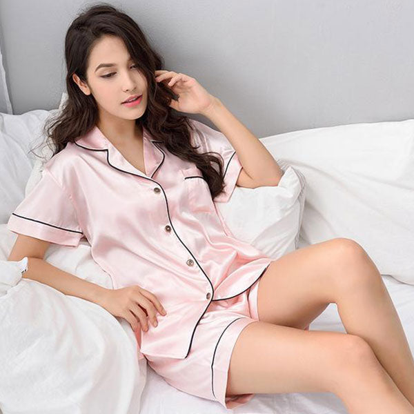 Classic Silky Two-Piece Pajama Set