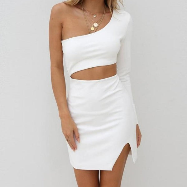 Asymmetric Waist Cut-Out Dress