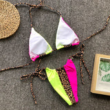 Triangle 3-Tone String Bikini Set