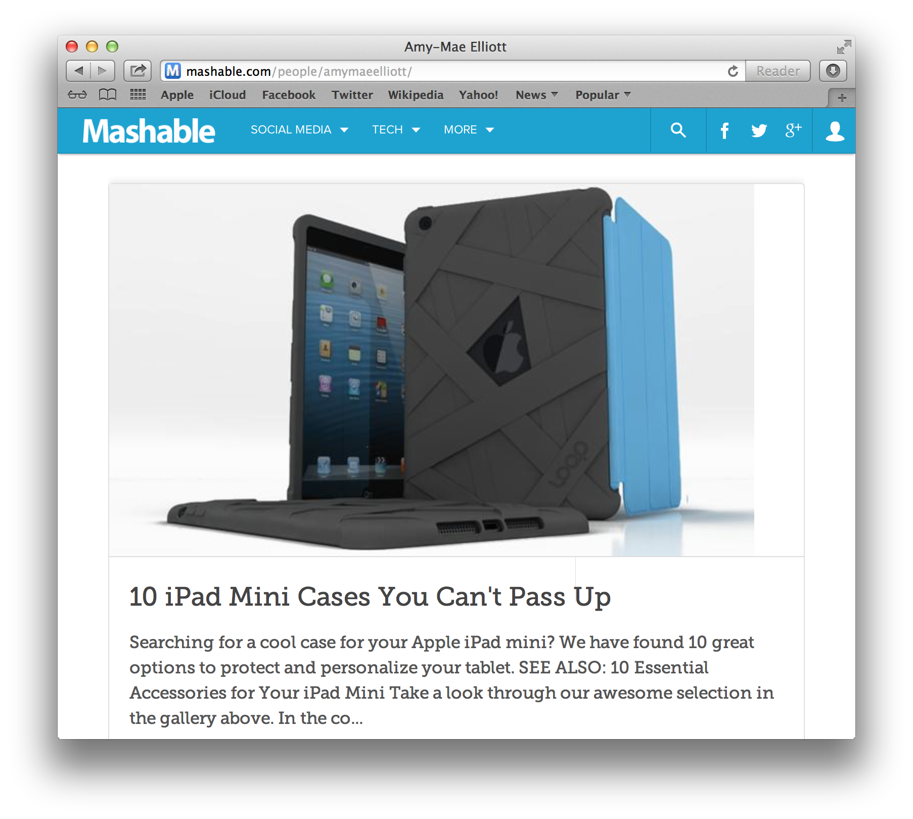 Loop Attachment iPad Mini Mummy case on Mashable