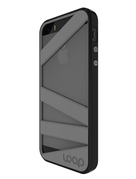 Black/Gray Straitjacket for iPhone 5/5s