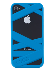 Neon Blue Mummy on Black Phone