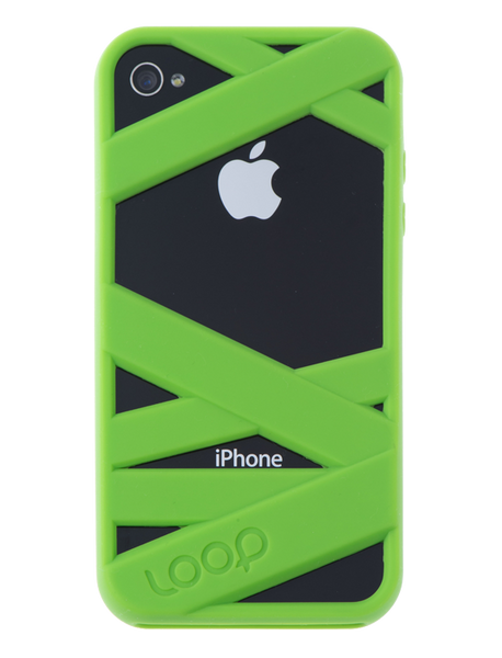 Neon Green Mummy on Black Phone