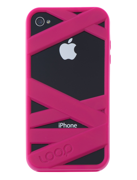 Magenta Mummy on Black iPhone