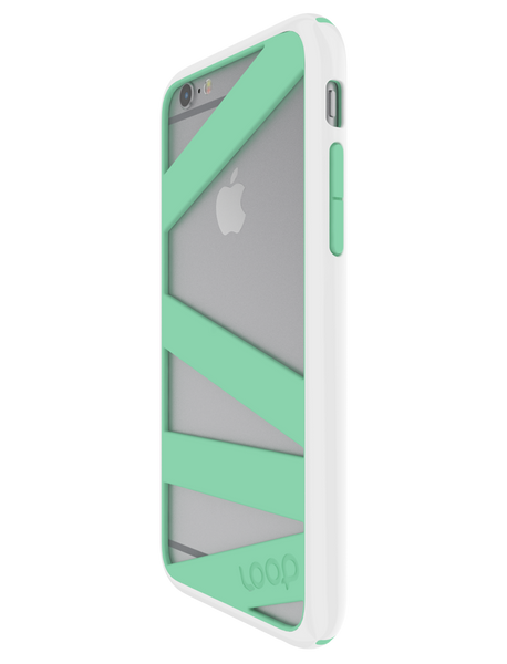 White/Mint Straitjacket for iPhone 6