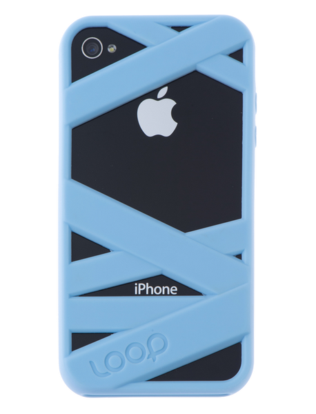 Powder Blue Mummy on Black iPhone