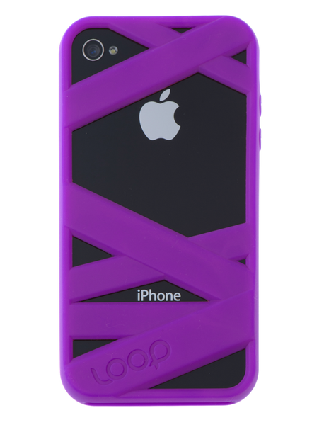 Purple Mummy on Black iPhone
