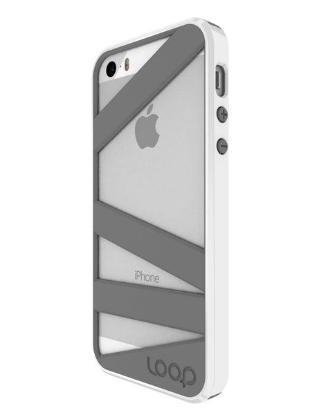White/Gray Straitjacket for iPhone 5/5s