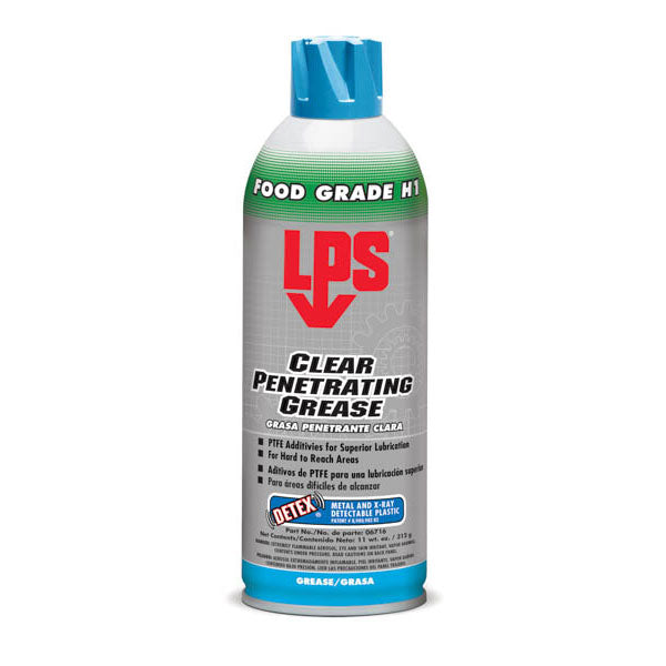 LPS Food Grade H1 Clear Penetrating Grease with Detex - 16oz. | 06716