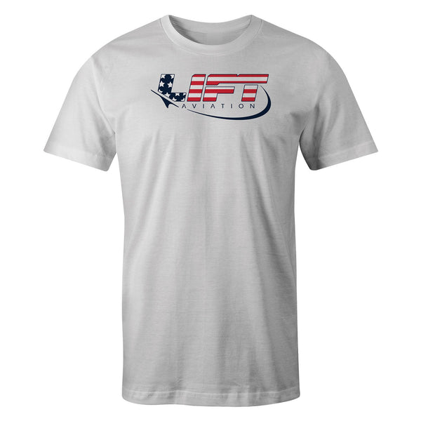LIFT Aviation - Americana Tee - White