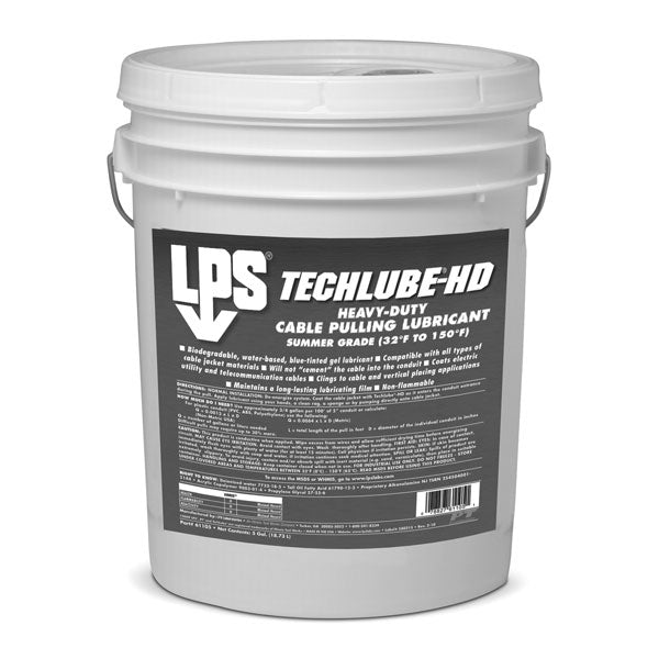 LPS TechLube-HD Heavy-Duty Cable Pulling Lubricant - 5 Gallon | 61105