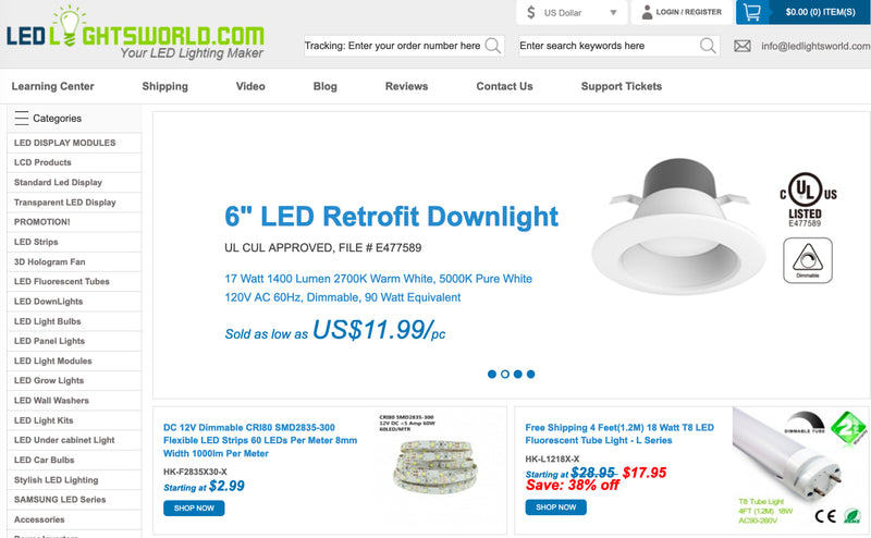 New LEDLightsWorld.com Online Now!