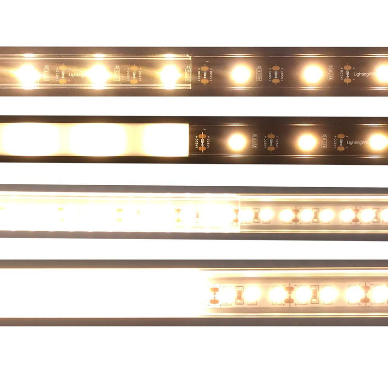 Silver U01 9x23mm U-Shape LED Aluminum Channel System for LED Strip Light Installation