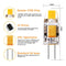 10 Pack G4 LED Light Bulb Bi-Pin Silicon Encapsulation 12V 1 W 0705 COB LEDs CRI>80 100-110Lumen 10W Equivalent