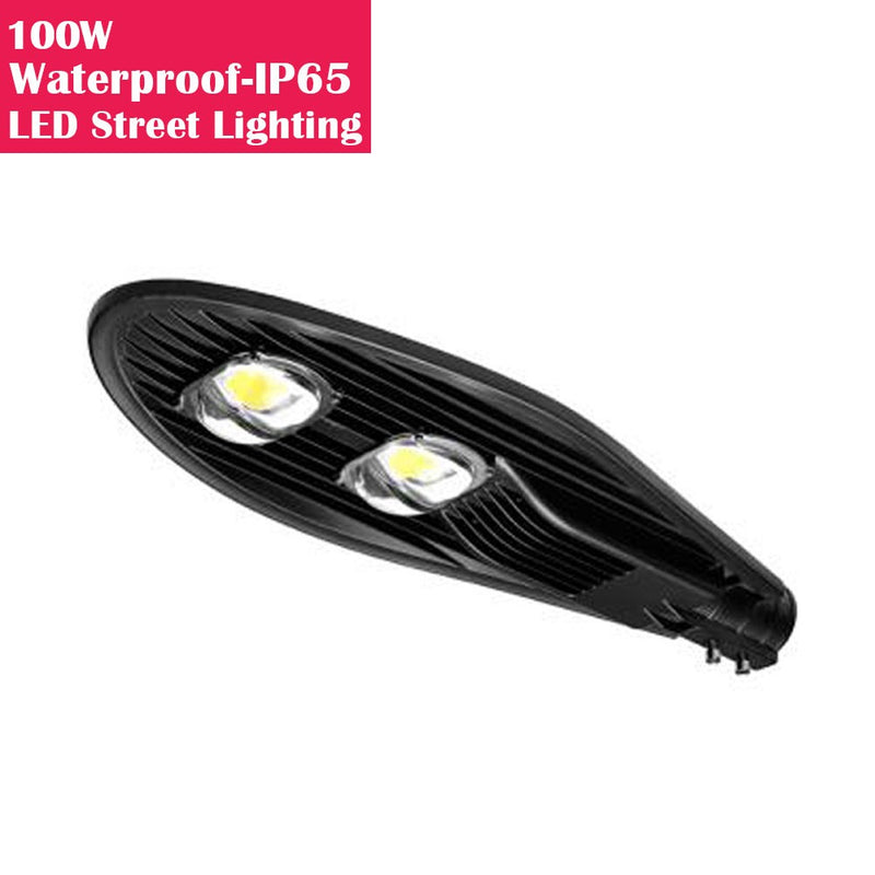 100W IP65 Waterproof LED Pole Light for LED Street Lighting Pure White 6500K