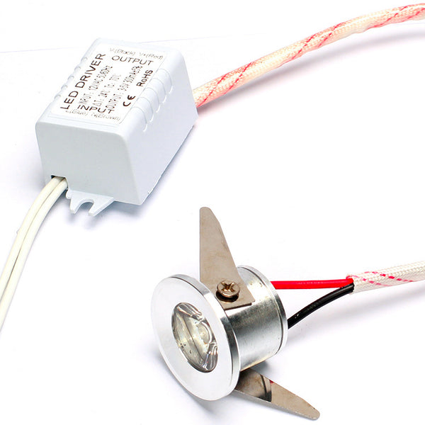 Mini 1W LED Downlight - Diameter 32mm (1.26inch) - 30 Degree Mini Recessed LED Light Small Ceiling Downlight Cabinet LED Light with LED Driver