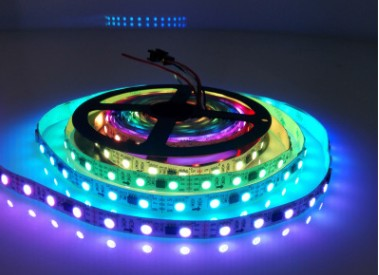 DC 12V TM1914 Breakpoint Continuingly 5050 RGB Color Changing Addressable LED Strip Light 16.4 Ft (500cm) 30LED/Mtr LED Pixel Flexible Tape White PCB