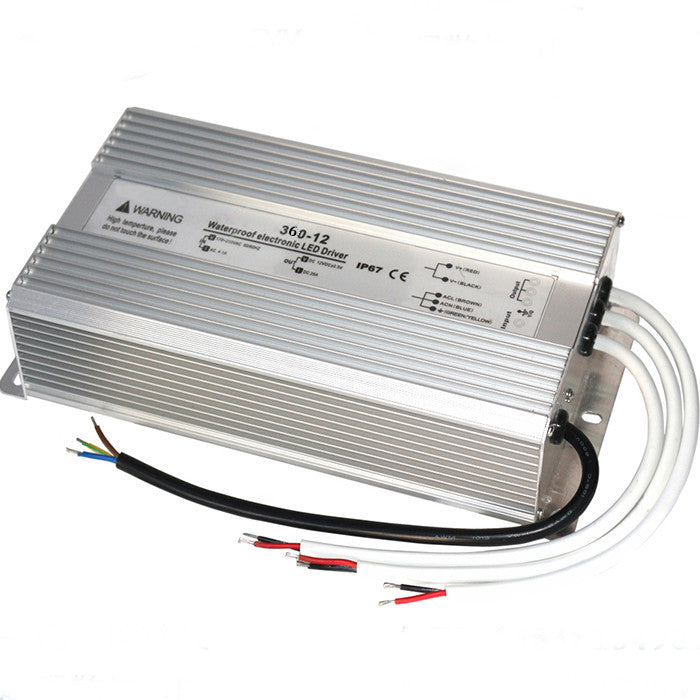 Outdoor Waterproof IP67 Metal Housing LED Transformer Power Supply AC110V / 220V to DC 12V/24V