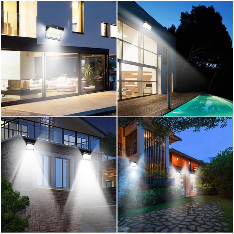 2 Pack Solar Lights Outdoor 262 LEDs Wireless Waterproof Security Solar Motion Sensor Wall Lights