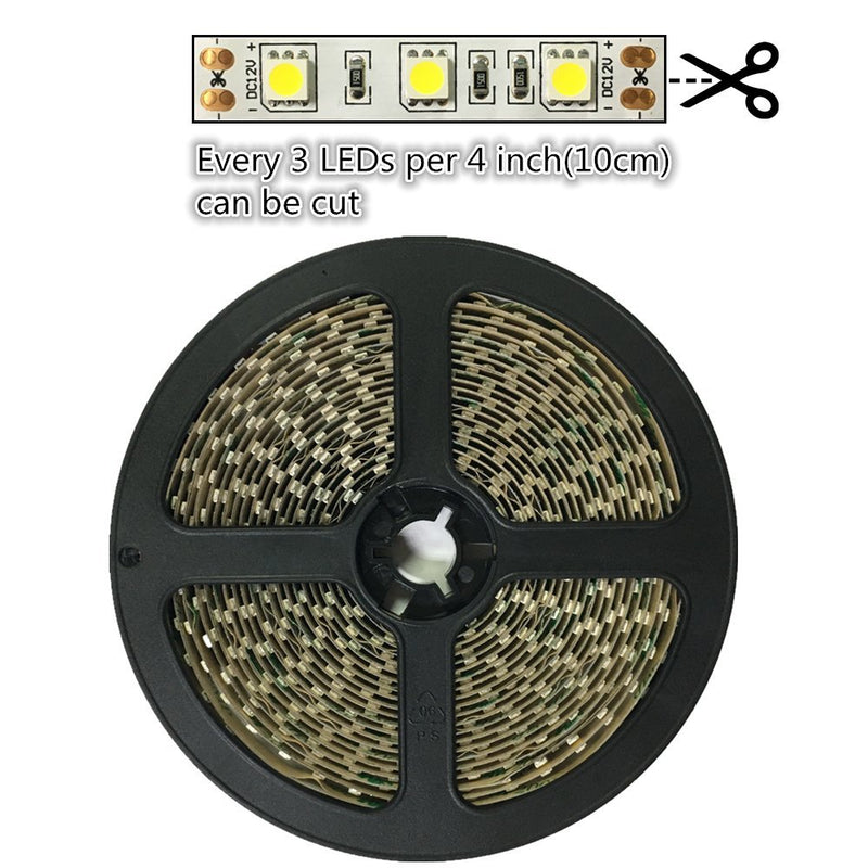 DC 12V Dimmable SMD5050-300 Flexible LED Strips 60 LEDs Per Meter 10mm Width 900lm Per Meter