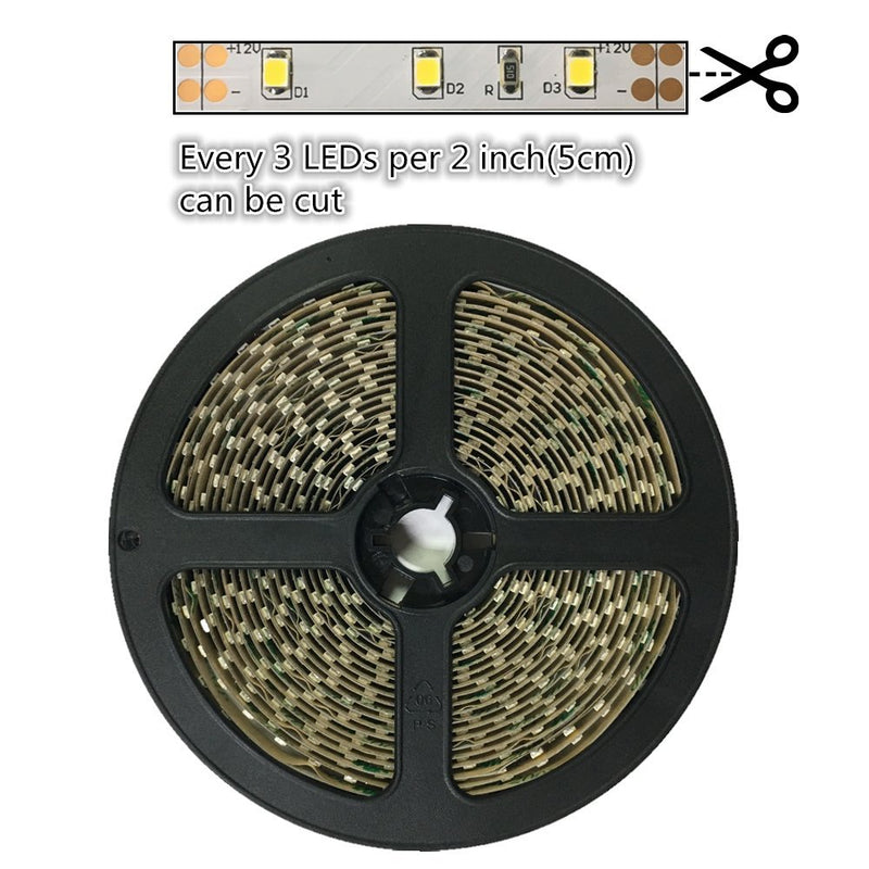 2700K/3000K/4000K/5500K White Color DC 12V Dimmable SMD2835-300 Flexible LED Strips 60 LEDs Per Meter 8mm Width 1000lm Per Meter LED Tape Light