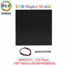 M-ID2.5 P2.5 Indoor LED Module,Full RGB 2.5mm Pixel Pitch LED Display Tile in 160*160mm with 4096 dots, 1/32 Scan, 800 Nits for indoor Display