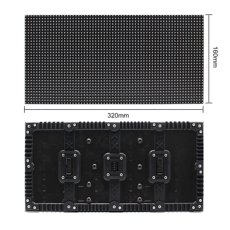 M-WF5L P5 Outdoor Flexible Waterproof LED Screen Module 5mm Pixel Pitch Full RGB LED Panel Screen in 320*160 mm w/2048 dots 16 Scan 4500 Nits For Outdoor Display