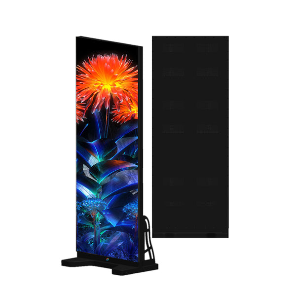 EPOG Series Frameless Outdoor LED Poster Display with GOB Protective Front/Black All in IP65 with 2.6 | 2.9mm Pixel Pitch in 750x2000mm Large Display Area