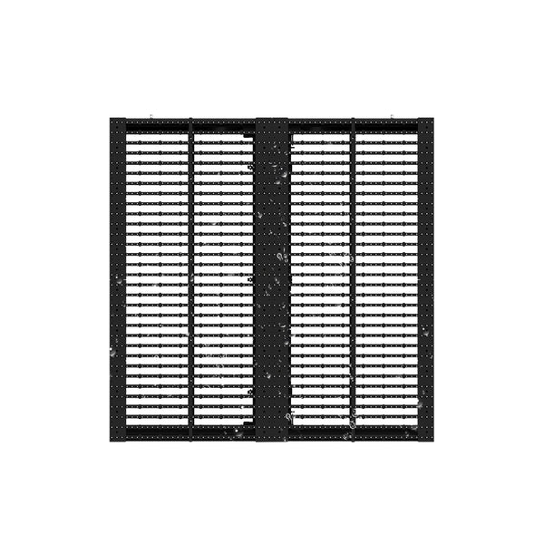 oClear Pro Series Outdoor Waterpoof P15.6/31.2mm Transparent LED Mesh Display High Brightness 7500nits in Size 1000x1000mm Aluminum Cabinet for Fixed Installation