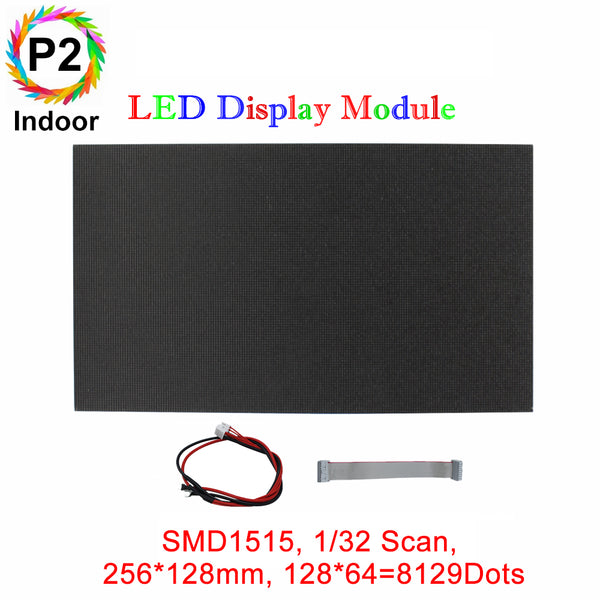 M-HD2 High Definition P2 (2mm) Small Pixel Pitch Indoor LED Module, Full RGB Pixel LED Tile in 256*128mm with 8192 dots, 1/32 Scan, 800 Nitsfor indoor Display