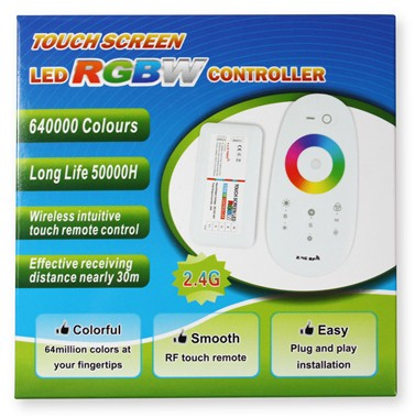 RGBW 2.4G RF Wireless Remote Controller with Color Ring Touchable Remote for 12V or 24V RGBW / RGBWW Color LED Flexible Strip Lights