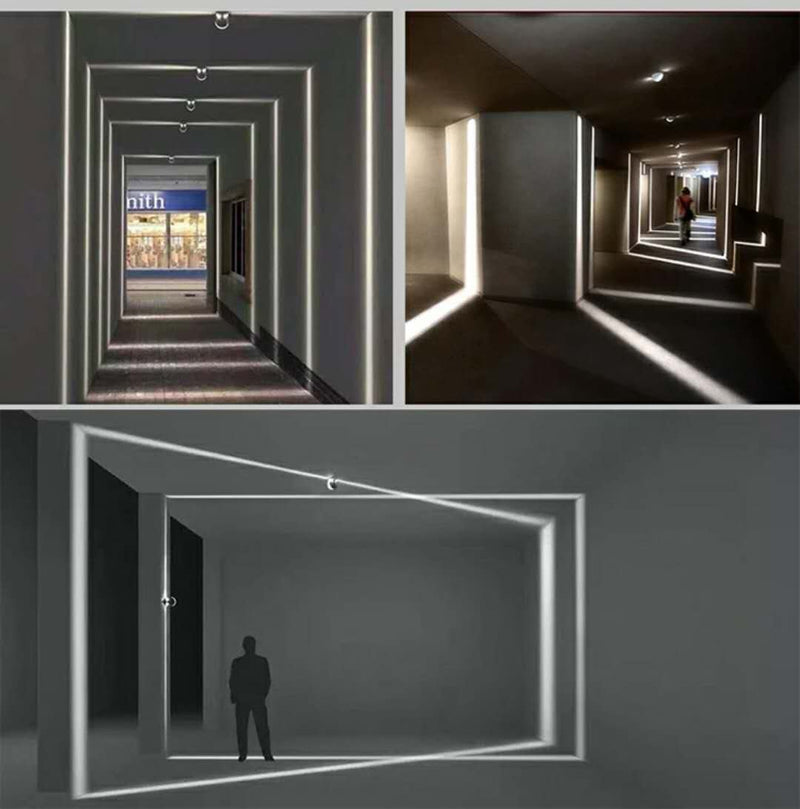 FREE SHIPPING 8W 360° Light Blade Grey Finish Window Frame LED Light for Architecture Graphic/Doorframe/Hallway/Outdoor Landscape Decorative Lighting
