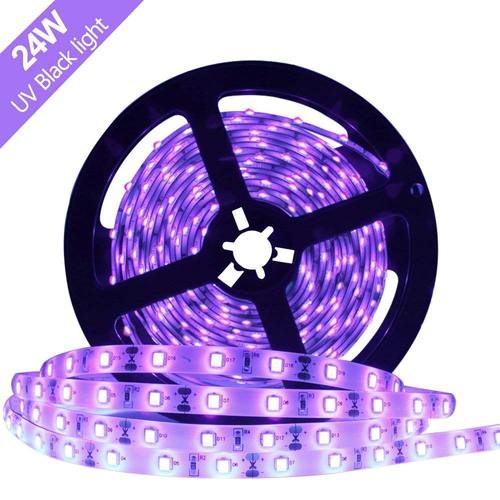 24 W 16.4FT/5M UV 3528 300LEDs 395nm-405nm  Night FishingLight LED Strip Sterilization implicitly Party