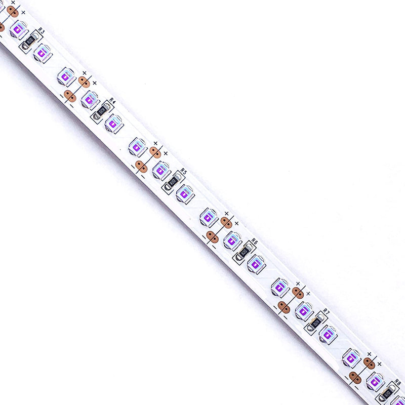 380nm 385nm SMD2835-300 12V 5A 60W UV LED Strip Light for UV Curing, Currency Validation
